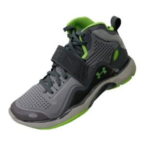 Under Armour Gray Green Basketball Sneakers